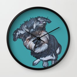 Benji the Schnoodle Wall Clock