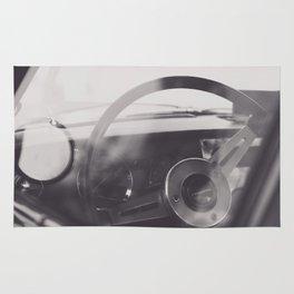 Super car details, british triumph spitfire, black & white, high quality fine art print, classic car Rug
