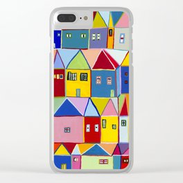 Little Houses Clear iPhone Case