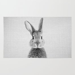 Rabbit - Black & White Rug