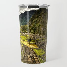 Machu Picchu in Hi-Res HDR landscape photo Travel Mug