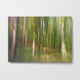 Abstract green forest Metal Print