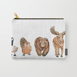 Canadian Crew | Woodland Animals Nursery Art Carry-All Pouch