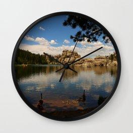 What A Beautiful Day At Sylvian Lake Wall Clock
