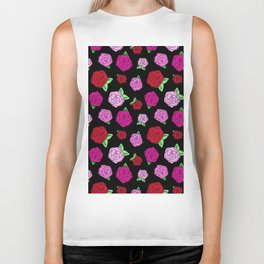 Rockabilly Roses in Black Biker Tank