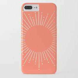 Simply Sunburst in Deep Coral iPhone Case