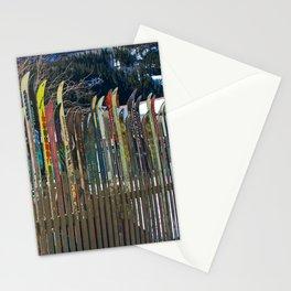 Colorado Ski Fence Stationery Cards