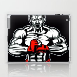 fighter mascot fighter pose ready to fighting Laptop & iPad Skin