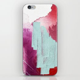 Desert Daydreams [3]: a colorful abstract mixed media piece in purple blue pinks and orange iPhone Skin
