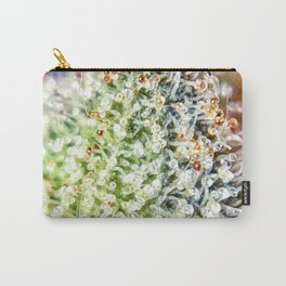 Top Shelf Bud Diamond OG Strain Trichomes Close Up View Carry-All Pouch