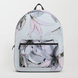white lilies Backpack