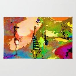 jardin multicolore Rug