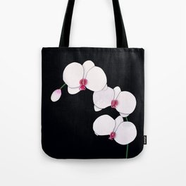 Trois Orchids and a Bud Tote Bag