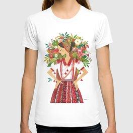 Folk Flower Girl T-shirt