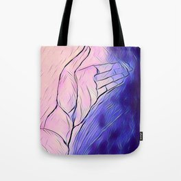Abstract hand Tote Bag