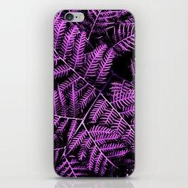 Purple Bracken iPhone Skin
