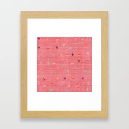 Cactus Silk Pattern in Pink Framed Art Print