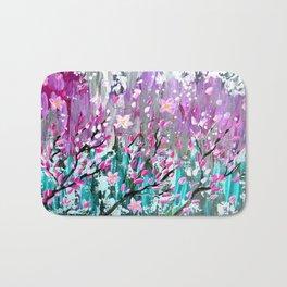 Sakura in the wind Bath Mat