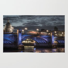 St Paul's Cathedral & Southwark Bridge At Night Rug
