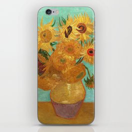 Vincent Van Gogh Twelve Sunflowers In A Vase iPhone Skin