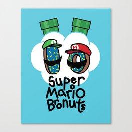 Super Mario Bronuts Canvas Print