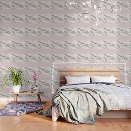 Blushed rose gold vein Wallpaper