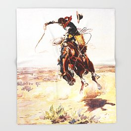 A Bad Hoss Throw Blanket