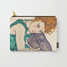 "Egon Schiele ""Seated Woman with Legs Drawn Up"" Carry-All Pouch"