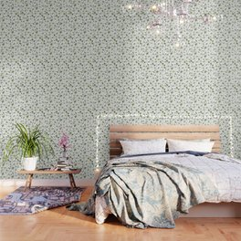 Scattered Garden Herbs Wallpaper