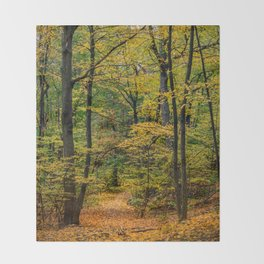 October Forest 3 Throw Blanket