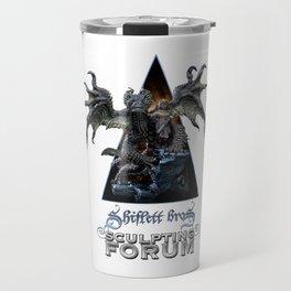 Talula and the Stray / Shiflett Bros. Sculpting Forum Logo Travel Mug