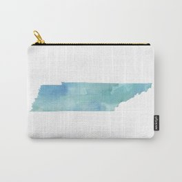 Watercolor State Map - Tennessee TN blue greens Carry-All Pouch