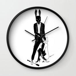Mr Bunny is cruel Wall Clock