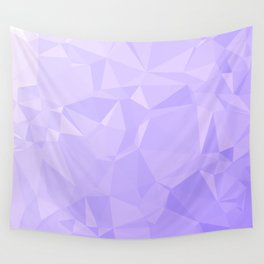 Low Poly Lavender Ombre Wall Tapestry