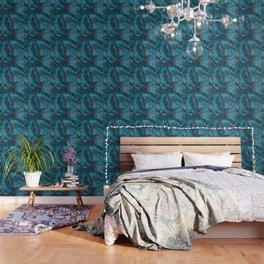 Blue fantasy marble Wallpaper