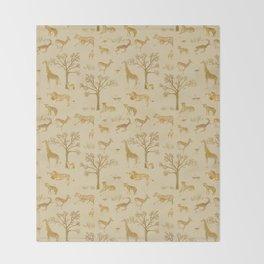 Safari in the Serengeti Throw Blanket