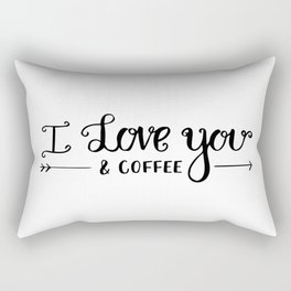 I Love You... & coffee Rectangular Pillow