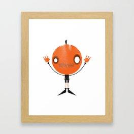 Pumpkin Head Framed Art Print