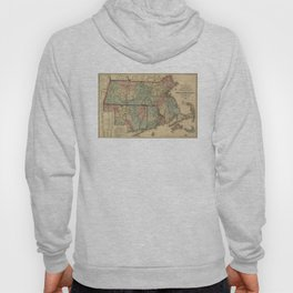 Vintage Massachusetts Railroad Map (1879) Hoody