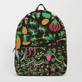 Fairy floral pattern unusual plants, trees and flowers Backpack