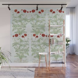 A reminder of past poppies Wall Mural