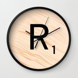 Scrabble Letter R - Large Scrabble Tiles Wall Clock
