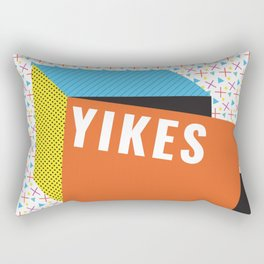 Bright Memphis Throwback Retro 1990s 80s Trendy Hipster Pattern Coral Rectangular Pillow