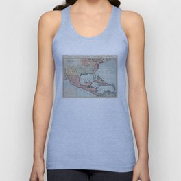 Vintage Map of The Gulf of Mexico (1732) Unisex Tank Top