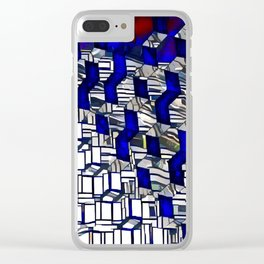 Cubism Harpa, Iceland Clear iPhone Case