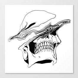 Skull #2 (Liquify) Canvas Print