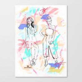 Fashion Illustration 3 - Alternative Background Canvas Print