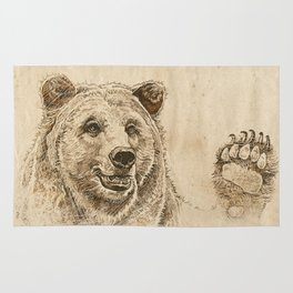 Grizzly Bear Greeting Rug