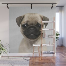 Pug Puppy - Colorful Wall Mural