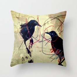 The gaze for the crow's crown Throw Pillow